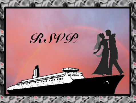 RSVP Wedding cruise card cover pink design