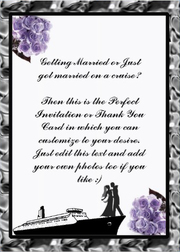 Wedding Invitation, thank you, cruise card cover Lilac color design